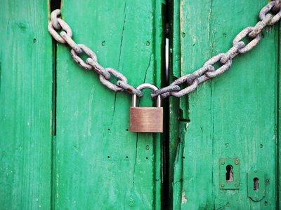Lock Green Door